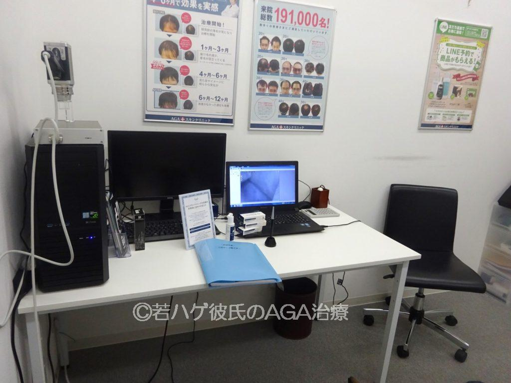 AGAスキンクリニックの診察室内