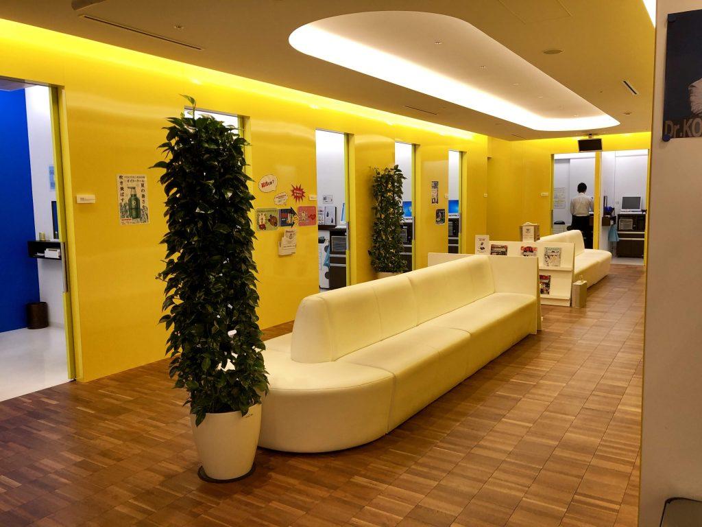 Dクリニック東京の待合室