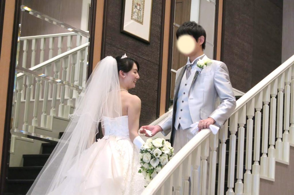 AGA治療をした夫との結婚式
