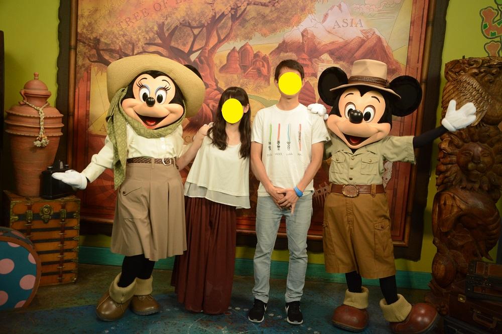 アニマルキングダムのミッキー&ミニー