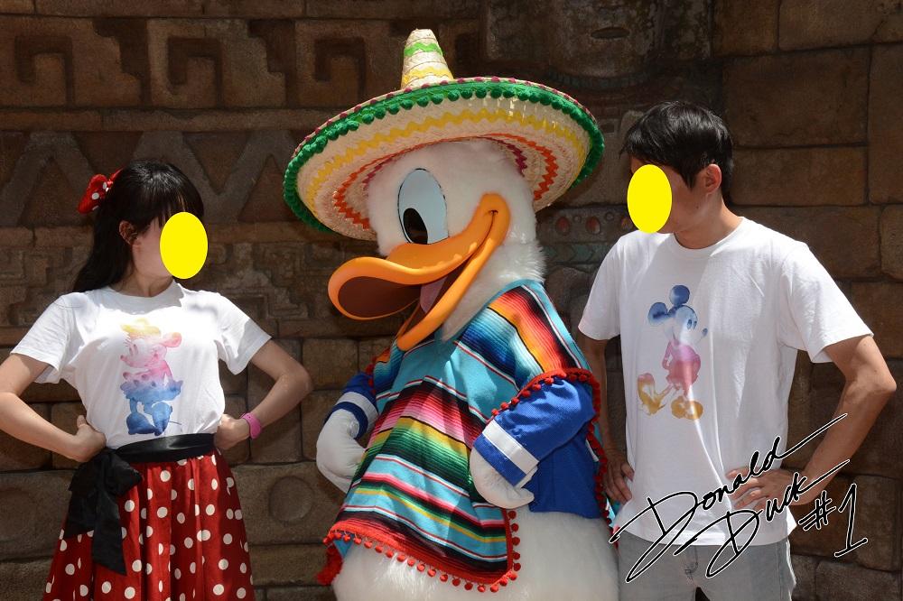 メキシコ衣装のドナルド