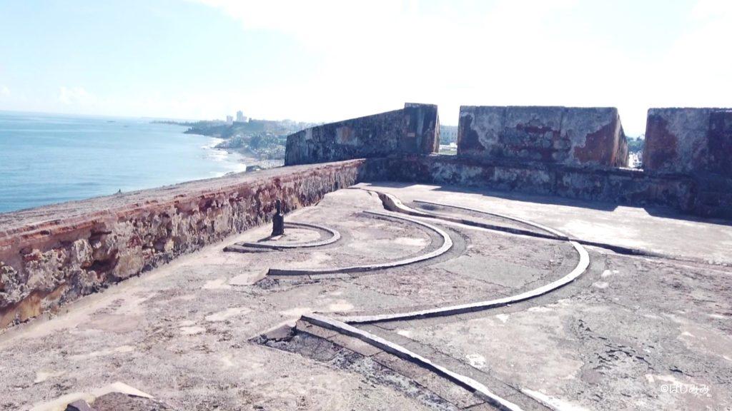 エルモロ要塞の砲台場